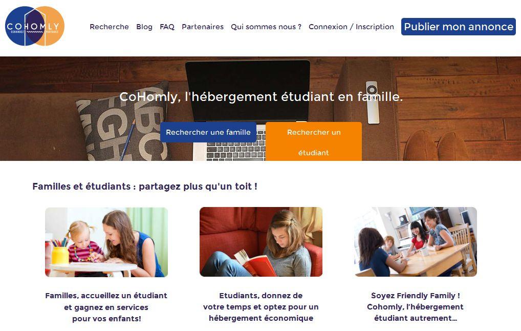 CoHomly : la bonne idée de l'hébergement étudiant en famille !