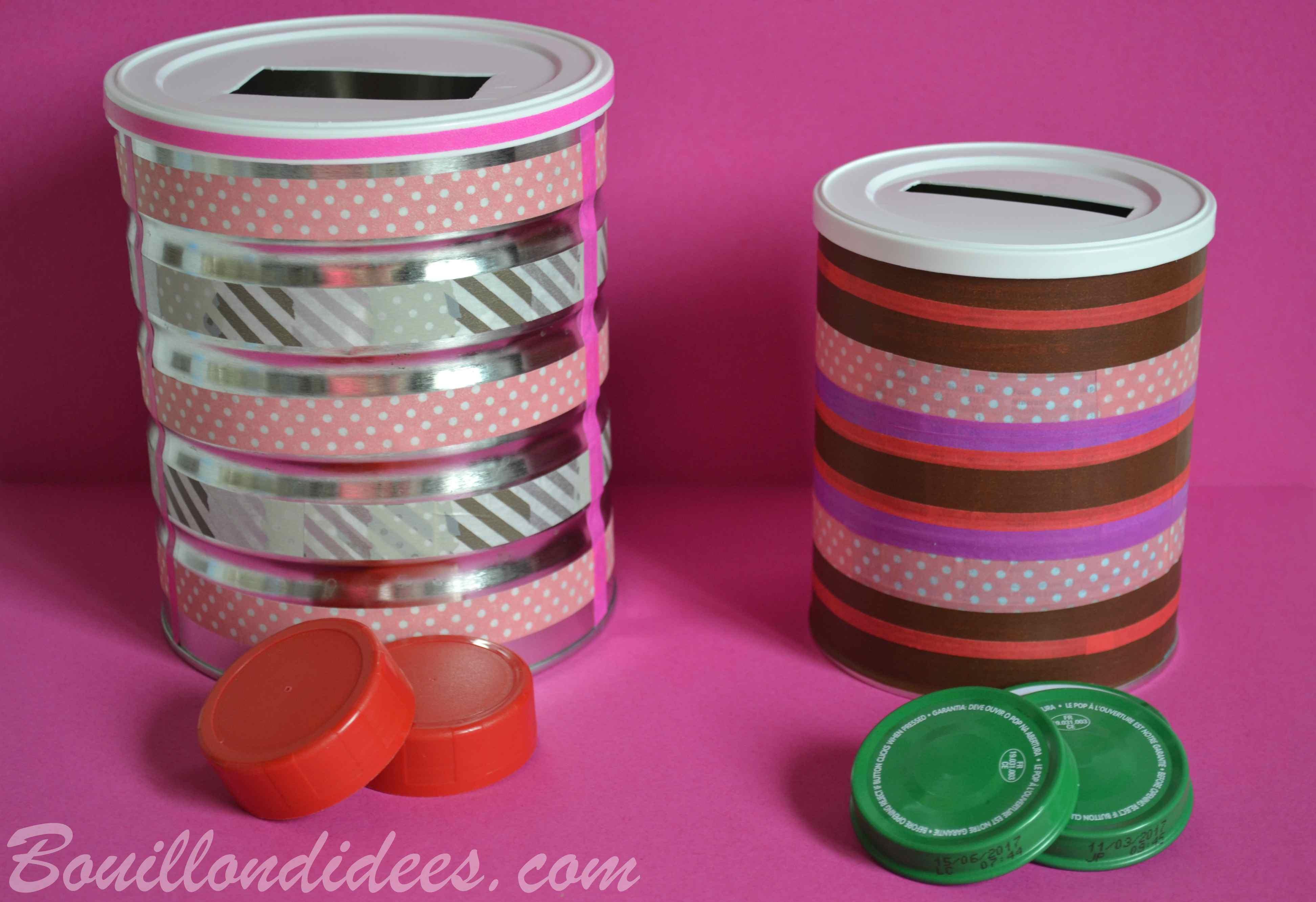 fabriquer une bo te formes pour b b avec des bo tes de lait en poudre. Black Bedroom Furniture Sets. Home Design Ideas