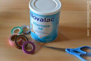 Fabriquer une boîte à formes, une boîte à tri pour bébé (DIY - bricolage avec boîtes à lait de bébé) - matériel