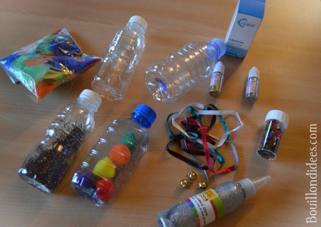 Fabriquer des bouteilles sensorielles (DIY Montessori)