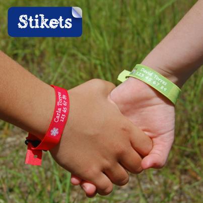 Bracelets personnalisés Stikets (enfants allergiques)