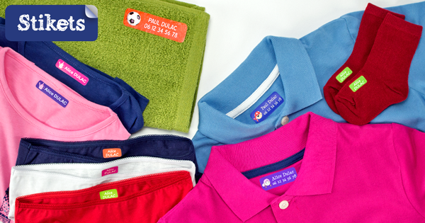 Avec les étiquettes personnalisées Stikets, n'égarez plus les vêtements de vos loustics ! (Avis & Concours)