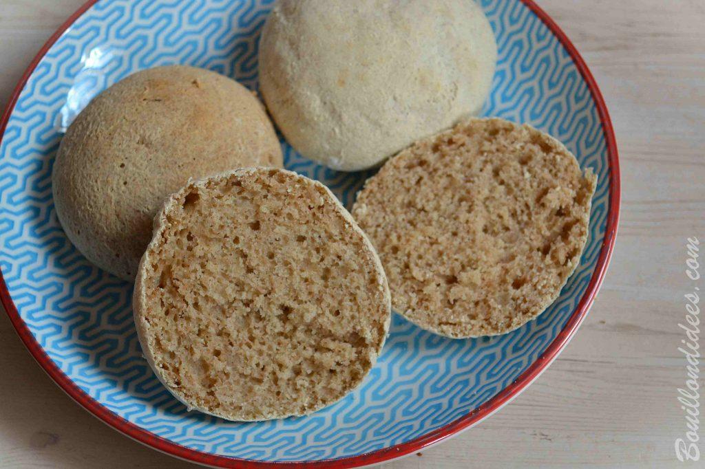 recette sans allergène : Des bruschettas au sarrasin, sans GLO (sans gluten, sans lait et sans oeuf) - cuisson à l'Omnicuiseur