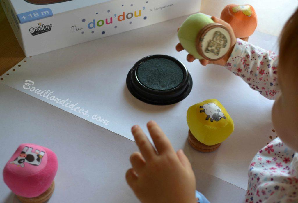 Les premiers tampons des tout petits : le coffret Mes doudous à tamponner Crea Lign' (Test & Avis) - Bouillon d'idées