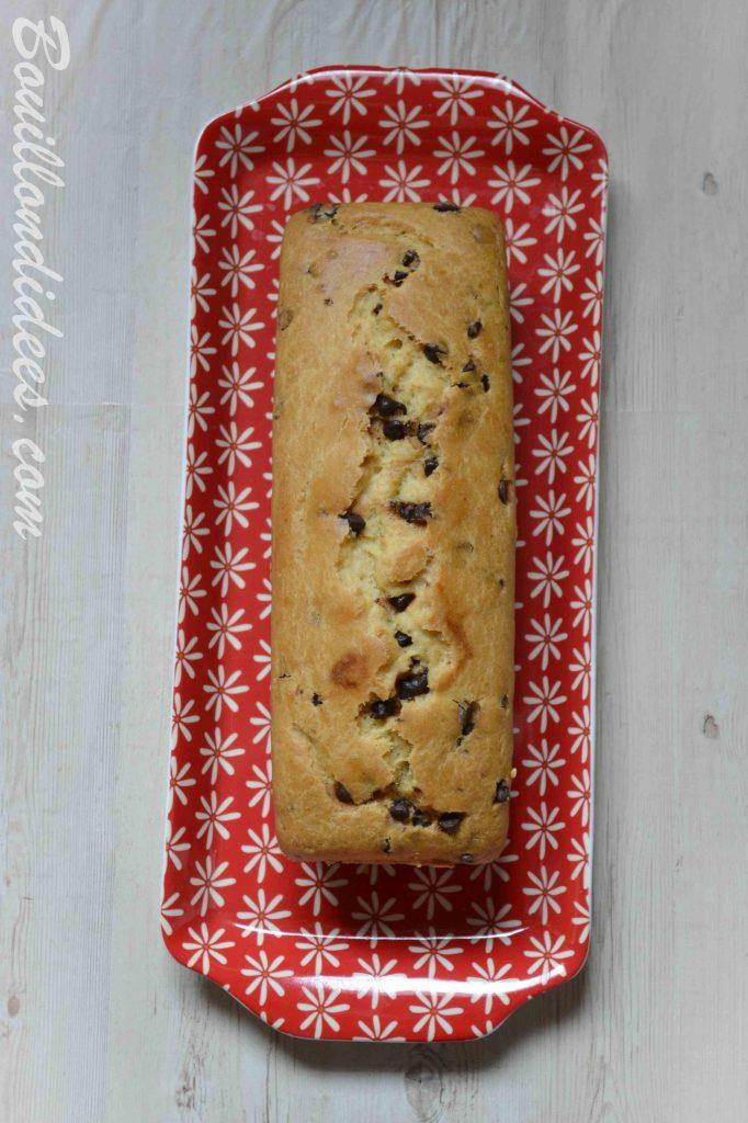 Cake à la vanille aux pépites de chocolat et sans GLO (sans gluten, sans lait, sans œuf) - recette Bouillon d'idées