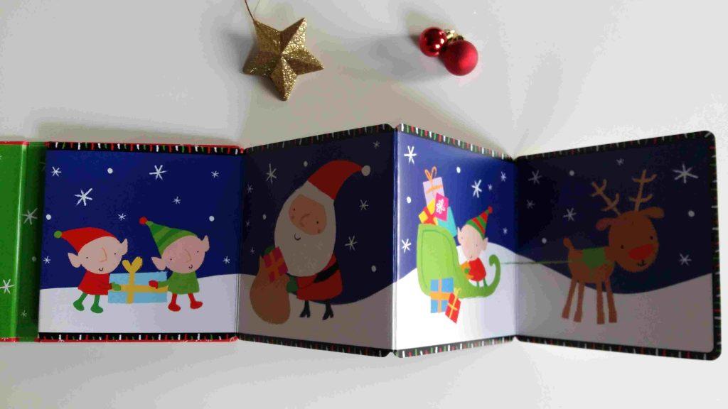 Nos idées lecture : nos meilleures histoires pour patienter jusqu'à Noël - Mon livre-accordéon Noël (Editions Usborne)