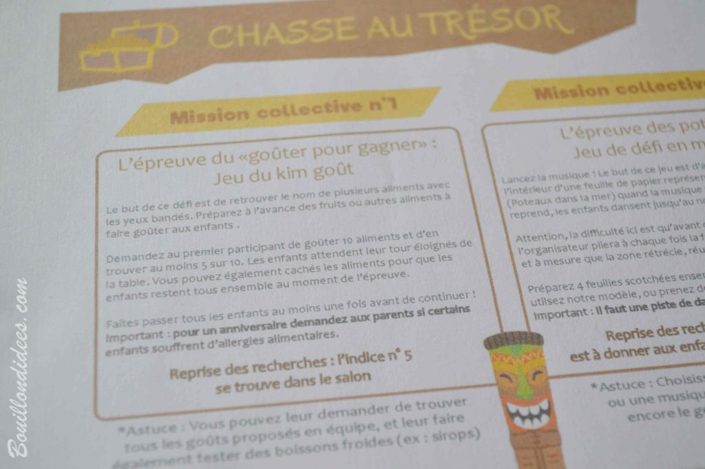 Organiser une chasse aux trésors grâce Âme d'enfants (+ concours) - Blog Bouillon d'idées