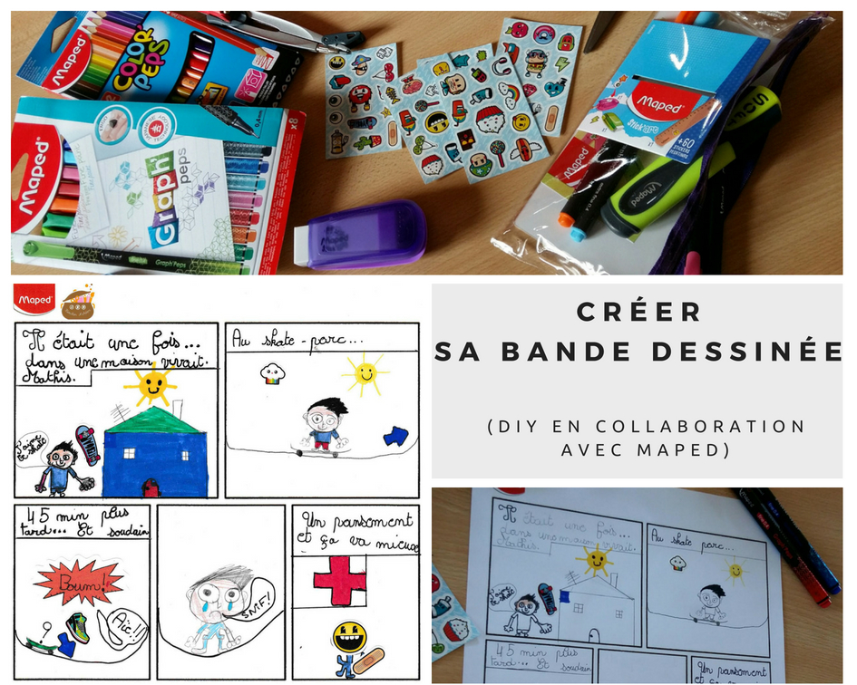 Créer sa Bande Dessinée (DIY en collaboration avec Maped) - gamme Stick'Art - Bouillondidees - Ma Story Maped