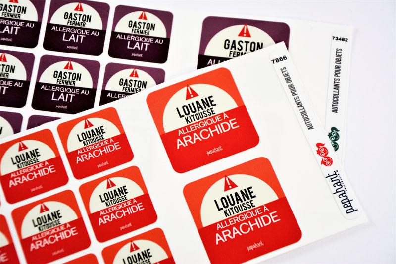 Les étiquettes Allergies Pepahart (gluten, lait, ...)  pour une rentrée en toute sérénité  - Blog Bouillondidees