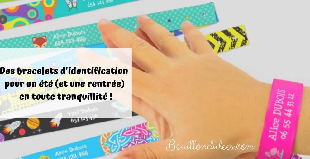 De s bracelets d'identification pour un été (et une rentrée) en toute tranquillité - personnaliser - Blog Bouillondidees