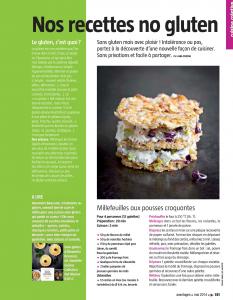 Le magazine Avantages propose des recettes sans gluten