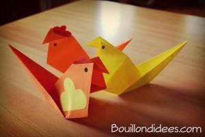 DIY bricolage Paques Cocotte en papier (origami)