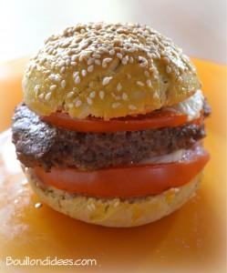 Hamburger maison sans gluten, sans GLO Bouillondidees