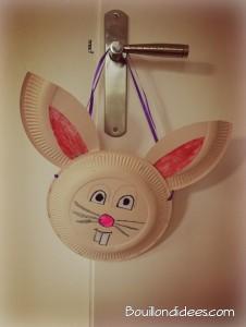DIY bricolage Pâques, panier lapin avec assiette carton Bouillon d'idées