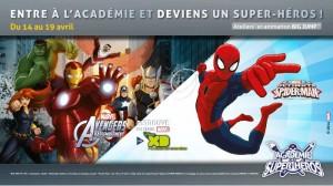 Du 14 au 19 avril, l'Académie des Super-Héros débarque au centre commercial de Créteil ! Les 4-12 ans vont pouvoir entrer dans la peau d'un super-héros à travers plusieurs ateliers