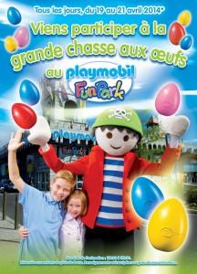 Que faire avec les enfants pendant les vacances de paques ? Aller au Playmobil Funpark, les 19, 20 et 21 avril, , les enfants sont convié à aider Rico, la mascotte du Playmobil Funpark, à retrouver les gros œufs de Pâques disséminés au milieu des milliers des figurines Playmobil du parc.