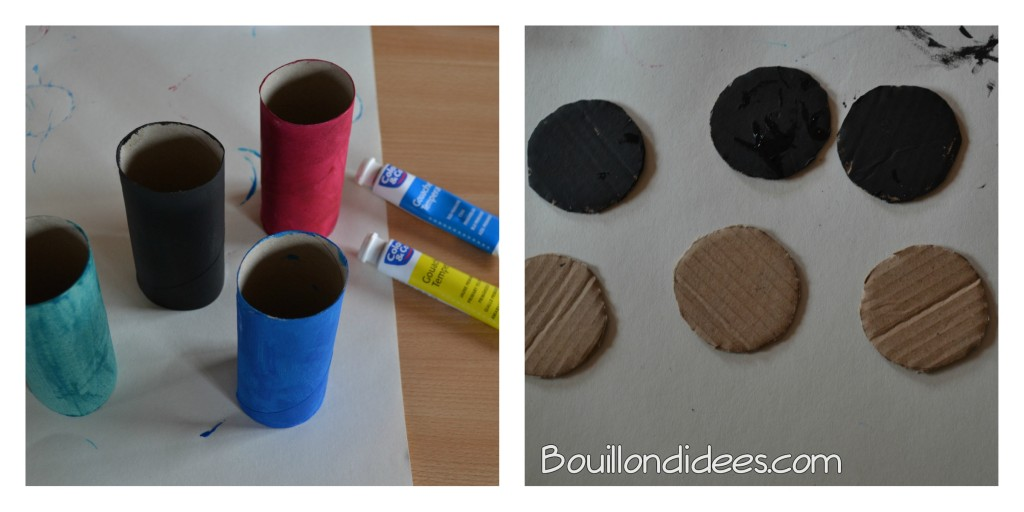 Voitures courses en rouleaux papier recyclés ETAPE 1 Bouillondidees