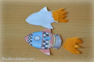 Fusée propulseur paille et cure-dent 1 Bouillondidees