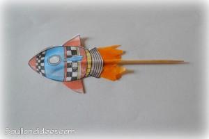 Fusée propulseur paille et cure-dent 3 Bouillondidees
