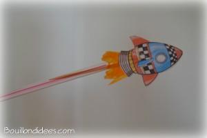 Fusée propulseur paille et cure-dent 7 Bouillondidees