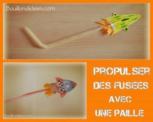 Fusée propulseur paille et cure-dent Blog Bouillondidees