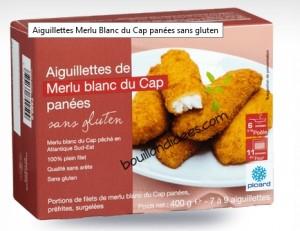 Picard aiguilettes Merlu Panées sans gluten Bouillondidees.com