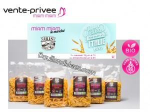 vente privée Pâtes italiennes Bio Iris Bouillondidees