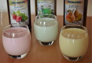yaourts aromatisés au sirop gros plan Bouillondidees