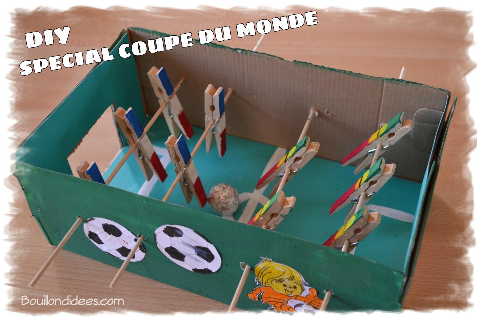 diy sp cial coupe du monde fabriquer un mini baby foot. Black Bedroom Furniture Sets. Home Design Ideas