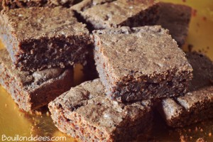 gateau chocolat sans GLO façon brownie découpé Bouillondidees