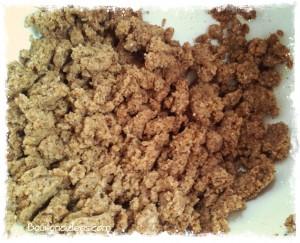 Crumble courgettes boeuf provençale sans GLO sans gluten farine noisettes Bouillondidees