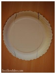 Panier petite boîte à friandises assiette en carton découpage Bouillondidees