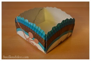 Panier petite boîte à friandises assiette en carton finish Bouillondidees