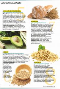 Santé Vie Pratique dossier intolérances alimentaires (gluten, lait, oeuf) 4 Bouillondidees
