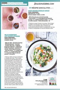 Santé Vie Pratique dossier intolérances alimentaires (gluten, lait, oeuf) recettes 2 Bouillondidees