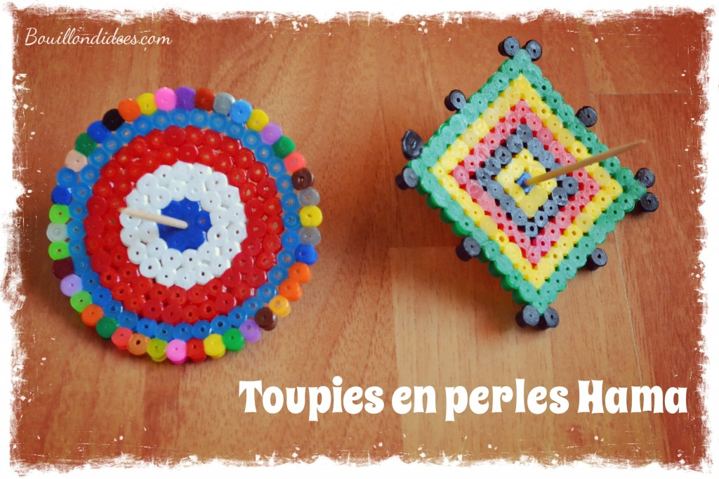 Diy Des Toupies En Perles 224 Repasser Hama