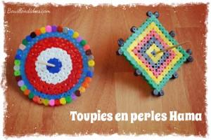 Toupies en perles à repasser Hama Bouillondidees