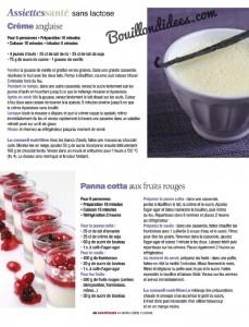 Avantages Hors Serie Sans gluten, sans Lactose & cie recettes sucrée sans lactose Bouillondidees