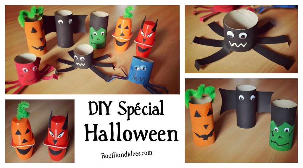 DIY loisirs créatifs activités manuelles spécial Halloween Bouillondidees