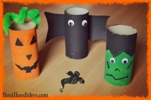 Monstres en tubes DIY rouleau papier toilette Halloween Bouillondidees
