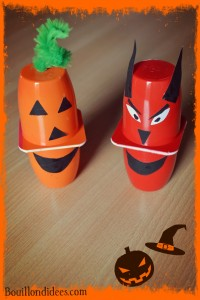 Petits suisses monstrueux DIY Halloween citrouille Bouillondidees