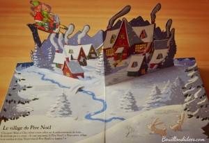 Avant Noël, lecture, livre la fabuleuse aventure du père Noël Nathan, pop up Bouillondidees