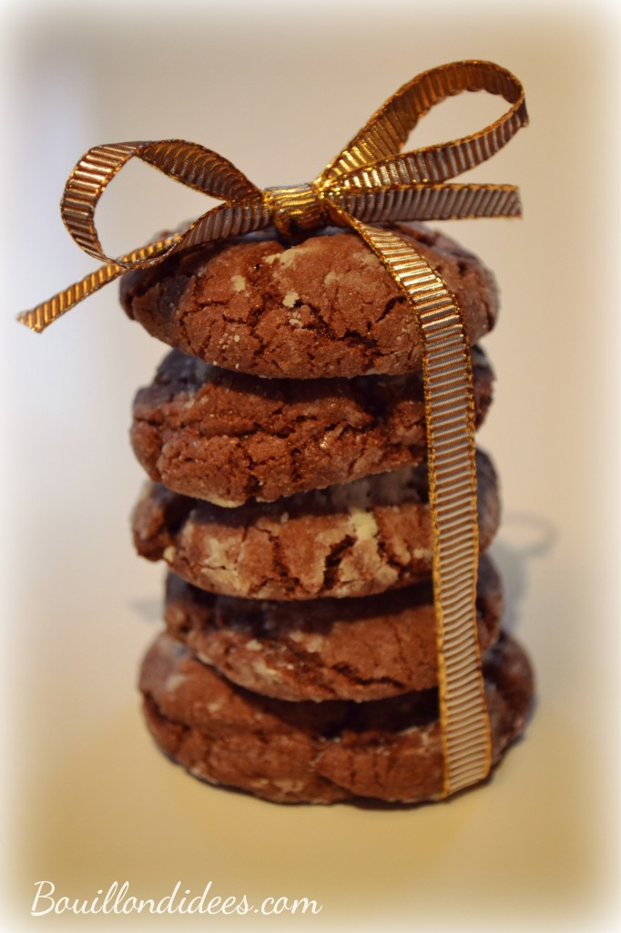 Crinkles sans GLO, biscuits croustimoelleux black& white pour Noel 2 Bouillondidees