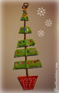 DIY Noël déco à suspendre sapin en papier Bouillondidees