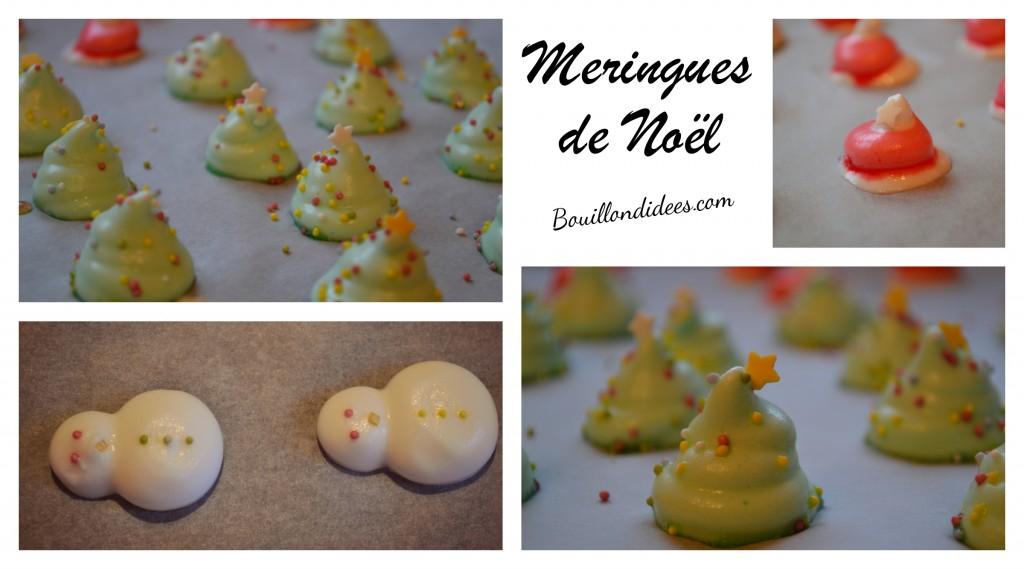 Meringues de Noël gourmandises sans gluten au four Bouillondidees