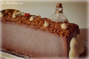 bûche mousse glacée au chocolat dessert réveillon Noël - parfait -sans gluten, sans lait, sans blanc d'oeuf Bouillondidees