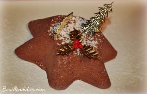 bûche mousse glacée chocolatée Noël parfait sans gluten, sans lait, sans blanc d'oeuf 2 Bouillondidees