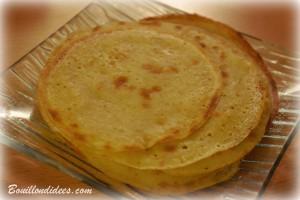Crepes Chandeleur sans GLO (gluten, lait, lactose, oeuf) 2 Bouillondidees