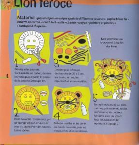DIY Masque Lion Carnaval fête livre Masques, Lebailly, Fleurus Bouillondidees