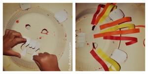 DIY Masque Lion enfant Carnaval fête collage dents et crinière Bouillondidees